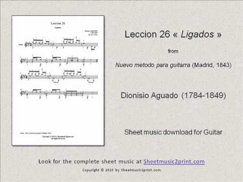 Dionisio Aguado - Lesson 26 In A Major