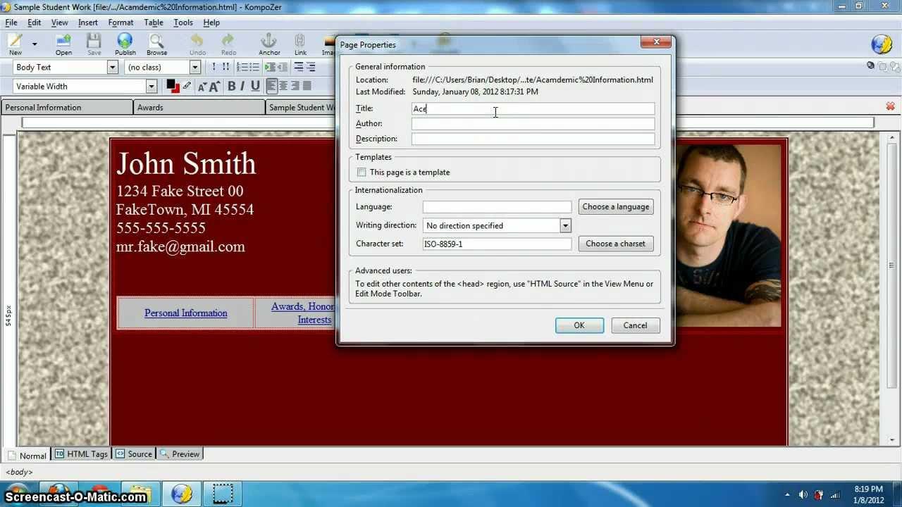 Make website with kompozer download