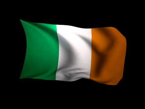 3D Rendering of the flag of Ireland waving in the wind.