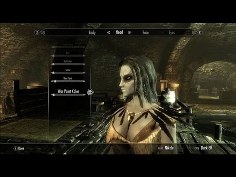 ♥Best looking female Dark Elf character in Skyrim (HD)♥
