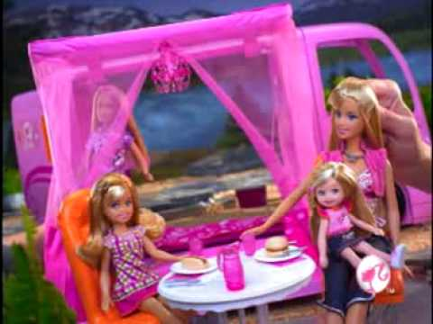 2009 Barbie Pink World Glamour Camper Commercial video