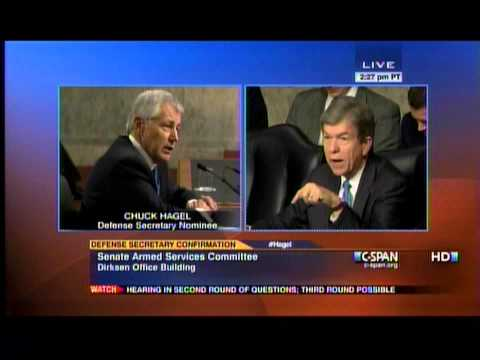 Part 2: Sen. Blunt Questions Former Sen. Hagel At Defense Secretary Confirmation Hearing 1/31/13