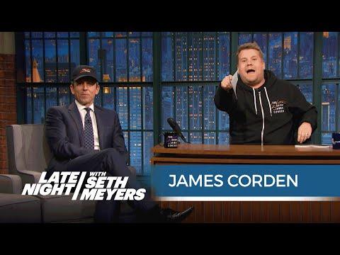 James Corden and Seth Swap Desks