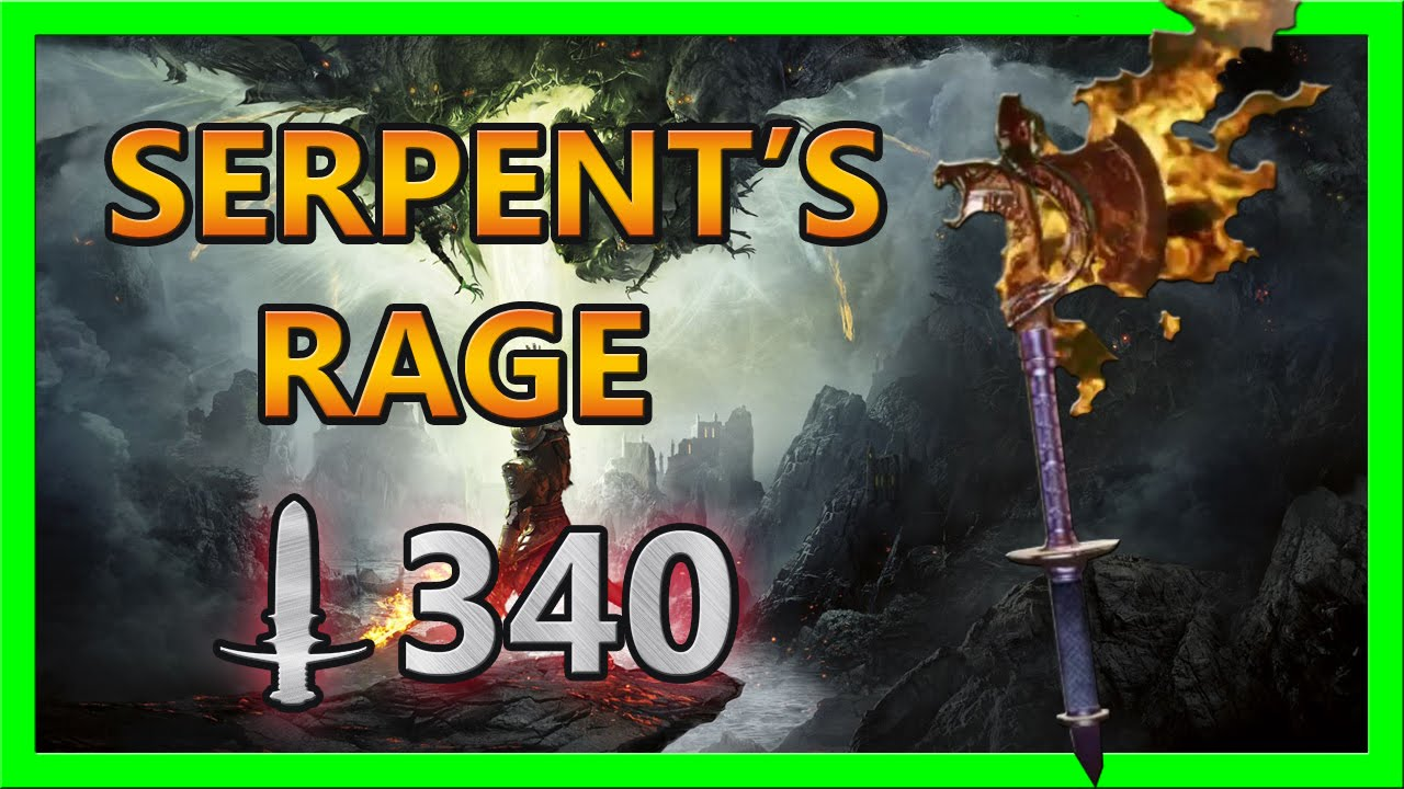 Dragon age inquisition serpent s rage schematic location and crafting