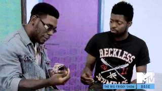 Burna boy and Basketmouth on Episode 8 (Season 3) of Glo Presents The Big Friday show