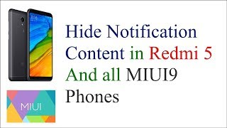 How to Hide and Lock Notification content in Redmi 5 and other MIUI Phones