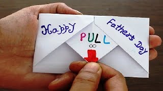 DIY - SURPRISE MESSAGE CARD FOR FATHER'S DAY | Pull Tab Origami Envelope Card | Father's Day special