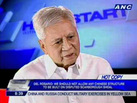 [ANC Headstart] DFA Sec. Albert del Rosario on Scarborough Shoal dispute 2/2