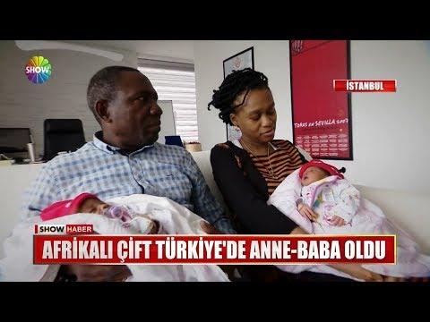 Afrikalı çift Türkiye'de Anne-Baba oldu