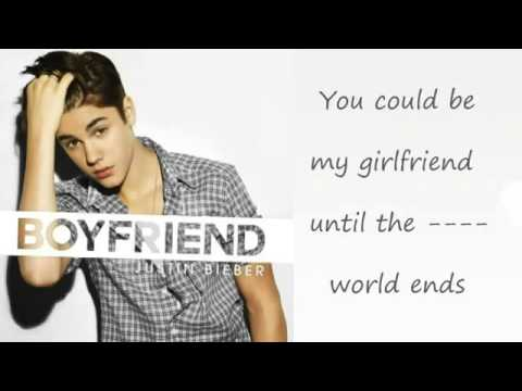 Justin Bieber - Boyfriend Lyrics video