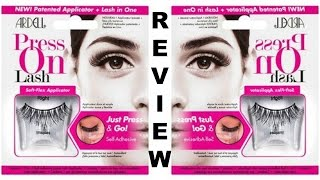 Ardell PRESS ON Lashes?!!! First Impression | Review | Demo