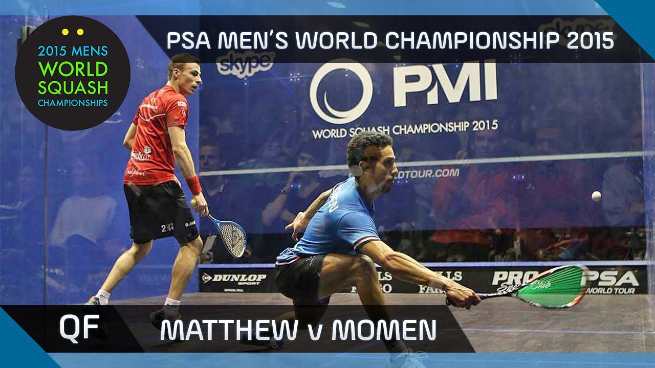Squash: 2015 PSA Men's World Championship QF Highlights: Matthew v Momen