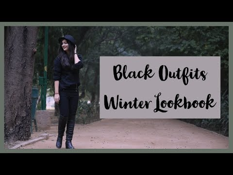 #fashionvideo How to style ALL BLACK outfits | Winter Look book | Deepika Negi
