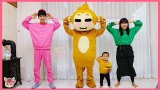 Head, Shoulders, Knees & Toes Exercise Song for Children Family fun 머리 어깨 무릎 동요 따라하기