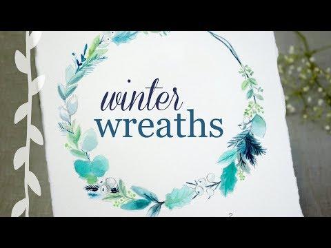Winter Wreaths: Watercolor Botanical Art Tutorial