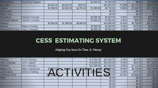 CESS Estimating System Activity Items #3 - Construction Entrepreneurs
