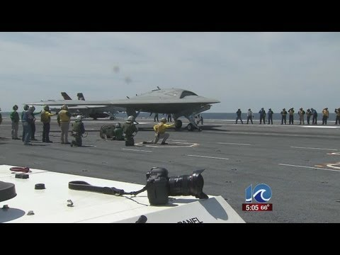 Unmanned aircraft launched from USS George H.W. Bush