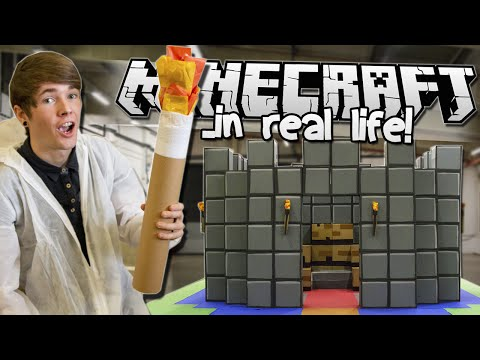 MINECRAFT.. IN REAL LIFE! | School of YouTube