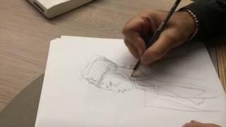 Comment j'ai dessiné... Une révolutionnaire russe, la leçon de dessin par Enki Bilal