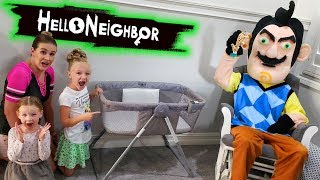 Hello Neighbor Scavenger Hunt! Searching For Missing Baby! Cry Babies Toys Found!!!