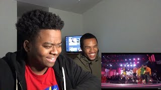 Download Lagu Bruno Mars and Cardi B - Finesse (LIVE From The 60th GRAMMYs ®) - REACTION Gratis STAFABAND