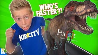 Little Flash Races a T-REX! KIDCITY Family Fun at Perot Museum of Nature and Science!