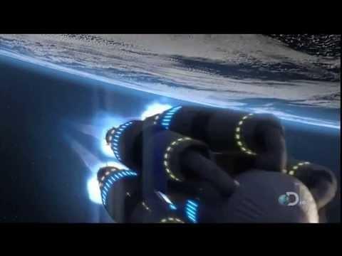 Futura nave espacial de viagem no tempo e no universo