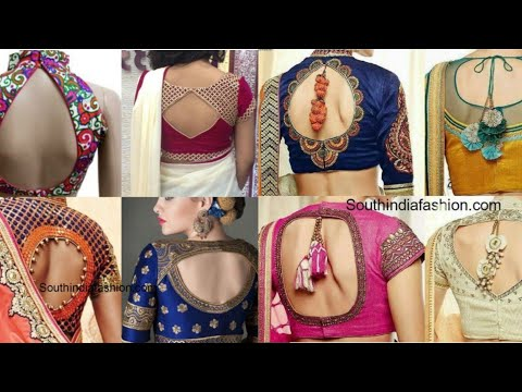 New blouse back design ideas for saree, lehenga/blouse back with tassel ideas