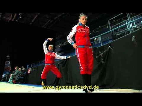 Alexandra Soldatova & Dina Averina - Warm Up at World Cup Espoo 2016