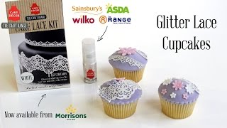 Glitter Lace Cupcakes