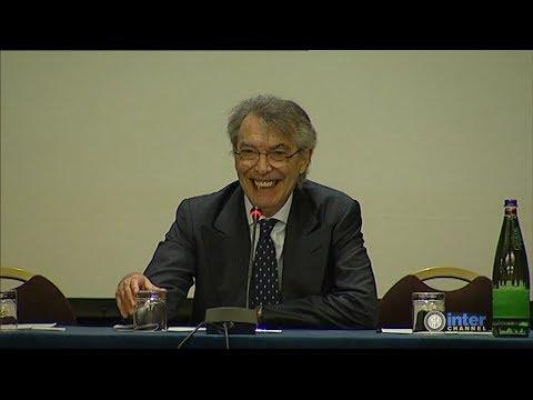 MASSIMO MORATTI - IL SALUTO AI SOCI DELL'ASSEMBLEA