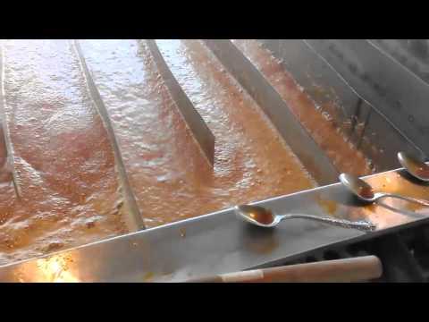 Cooking sorghum at Davis Family Farms