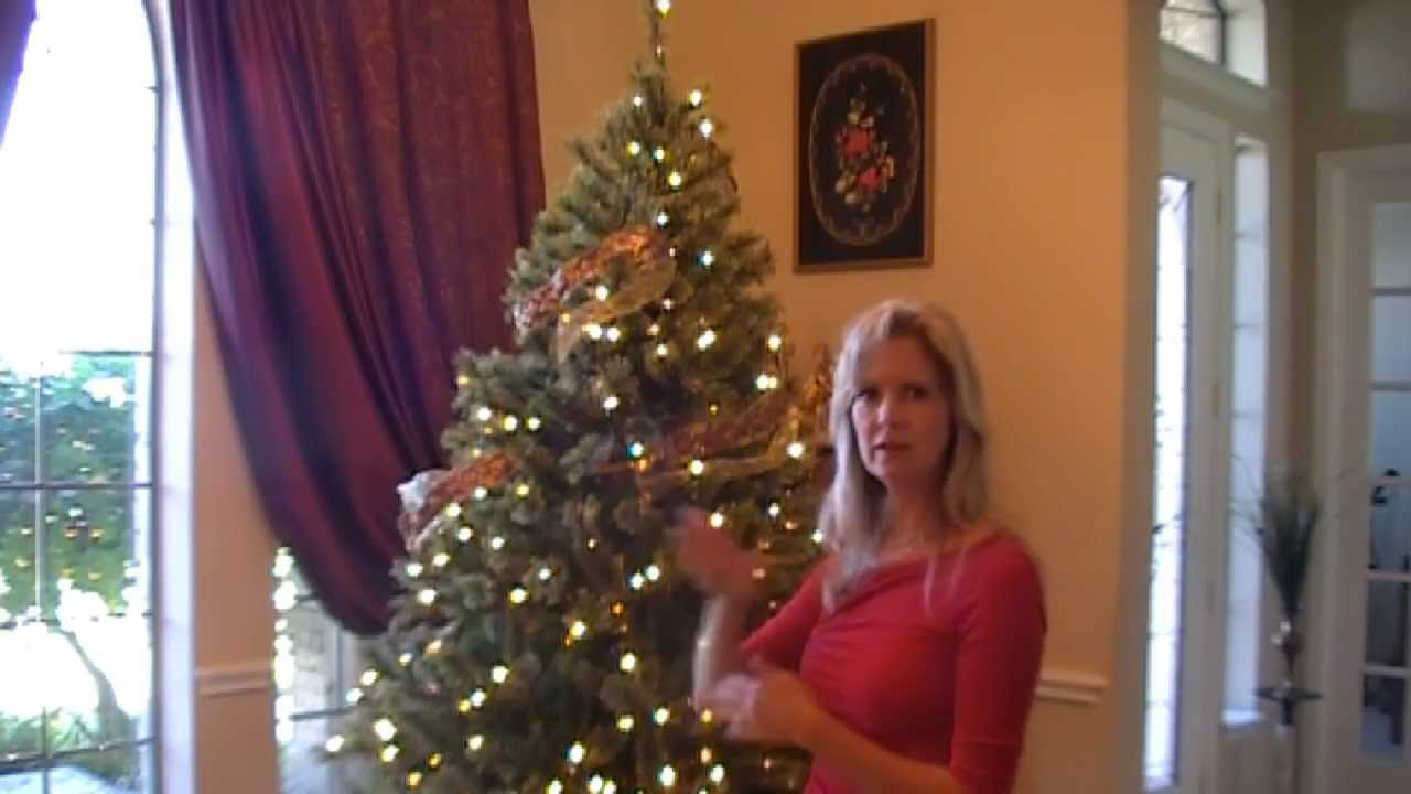 How to decorate a christmas tree elegantly youtube for How to decorate the best christmas tree