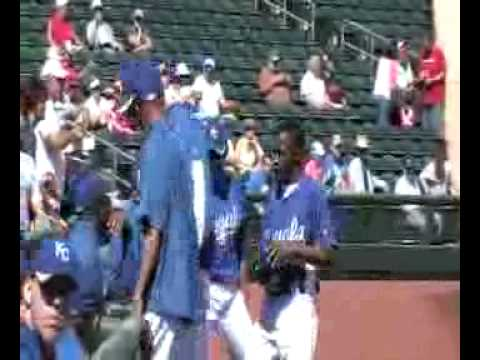 Wizards rookie Korede Aiyegbusi learns baseball terminology the hard way while serving as ballboy for the Kansas City Royals in Surprise, Arizona. To purchase Kansas City Wizards season tickets,...