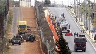 İsrail Lübnan sınırına duvar örüyor