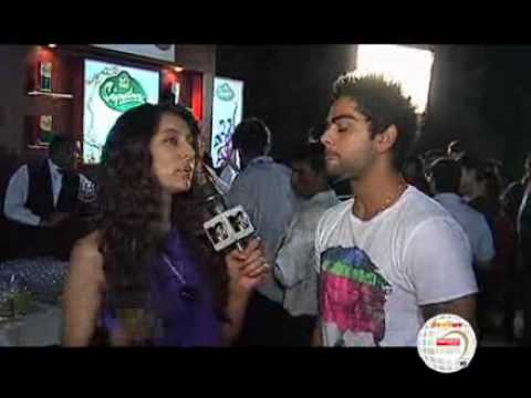 Viraj Kohli with Anusha Dandekar at IPL nights