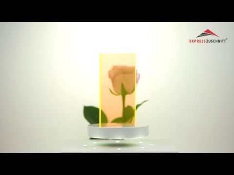 Acrylglas Gelb Fluoreszierend 3mm