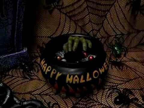 Way To Celebrate Halloween Animated Candy Bowl, Mummy Hand ...