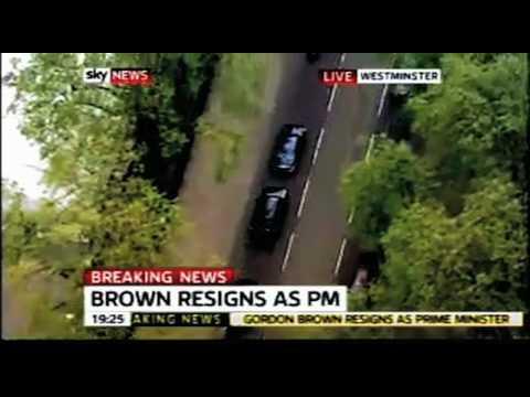 Torchwood: Gordon Brown leaves Downing Street.