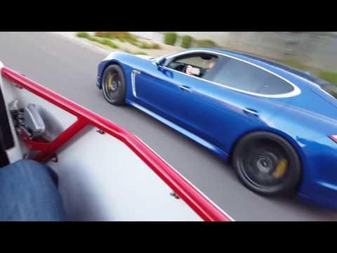 Supercharged Polaris RZR XP 1000 VS 600HP Porsche Panamera Turbo!
