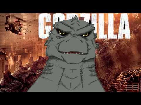 Godzilla Trailer 2014 Movie Interview with Godzilla Parody