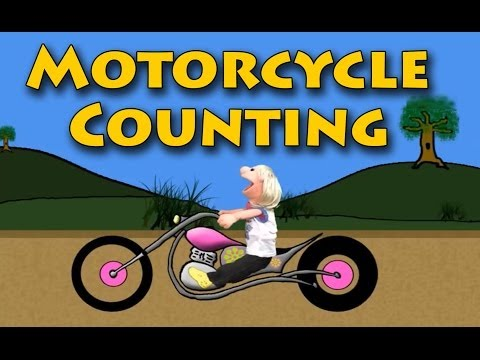 Vids4kids.tv -  Motorcycle Number Counting 11-20 Video For Kids