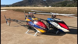 Alan Szabo Jr. and Ben Storick dual flight with Trex 700X and 550X