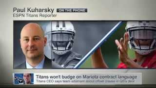 Tennessee: Titans determined to have offset language in quarterback Marcus Mariota