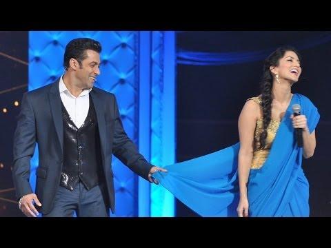 Salman Khan Teaches Sunny Leone How To Wear Saree video