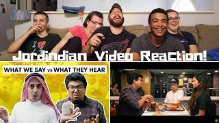 Jordindian REACTION! | What We Say Vs What They Hear | Misinterpretations
