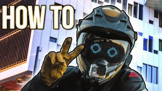 """Wrench"" LED Motorcycle Helmet 