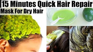15 Minutes Quick Hair Repair Treatment Mask For Dry Damaged Hair | SuperPrincessjo