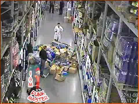 Warehouse Shelves Collapse Youtube