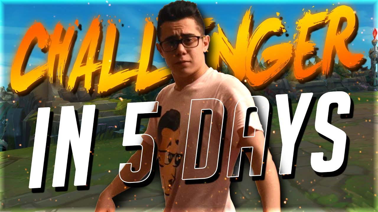TFBlade   UNRANKED TO CHALLENGER IN 5 DAYS CHALLENGE!!!!!